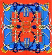 HERMES ORIGINAL 'GRAND MENAGE' LARGE SILK SCARF
