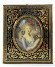 ANTIQUE PORTRAIT PLAQUE OF 'MARIE ANTOINETTE'