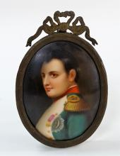 ANTIQUE PORCELAIN PORTRAIT PLAQUE OF NAPOLEON