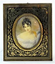 ANTIQUE PORTRAIT OF MADAME RECAMIER PLAQUE
