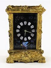 ANTIQUE FRENCH HEAVY BRONZE CARRAIGE CLOCK