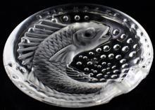 LALIQUE KOI FISH CRYSTAL TRAY