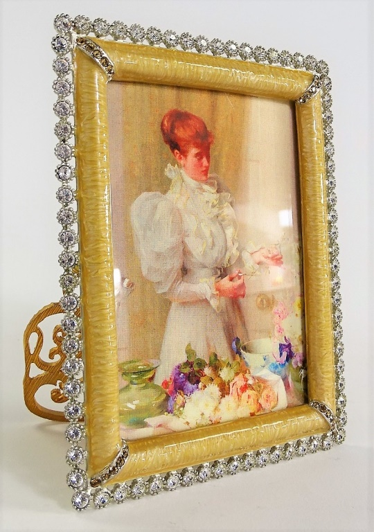 Jay Strongwater Jeweled Amp Enameled Picture Frame