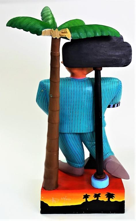 Markus pierson original acrylic wood sculpture