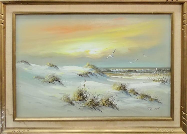 Remington Oil Painting Seascape
