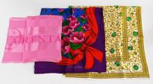 LOT OF 3 OSCAR DE LA RENTA DESIGNER SILK SCARVES