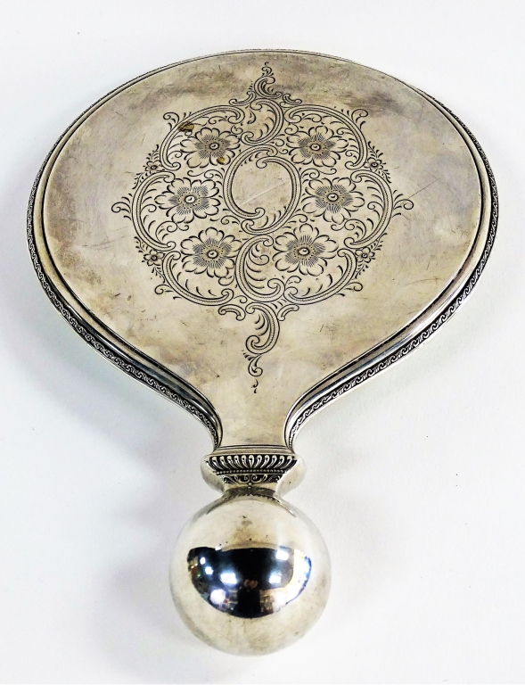 R. WALLACE & SONS STERLING SILVER VANITY MIRROR