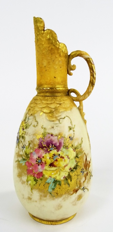 EARLY 20TH C. TURN TEPLITZ AMPHORA POTTERY PITCHER