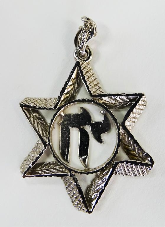 VINTAGE STERLING SILVER JUDAIC CHARM PENDANT