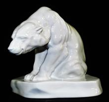 HEREND BLANC DE CHINE PORCELAIN POLAR BEAR
