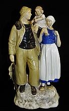 BING & GRONDAHL 'FISHER FAMILY' PORCELAIN GROUP