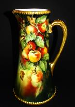 BAWO & DOTTER ELITE LIMOGES FRENCH PORCELAIN EWER