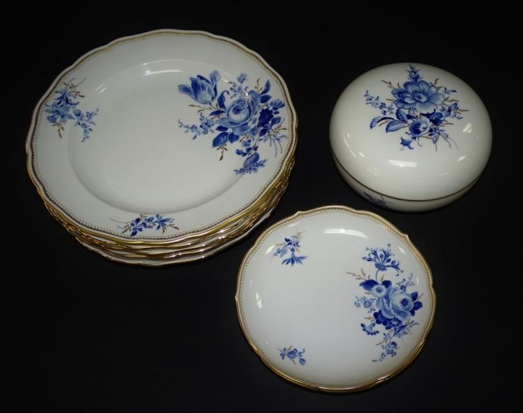 10PCS MEISSEN GERMAN PORCELAIN DINNERWARE