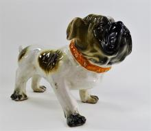 LARGE VINTAGE CERAMIC PORCELAIN ENGLISH BULLDOG
