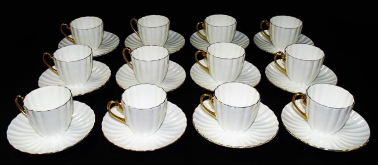 VINTAGE 22 PIECE SHELLEY BONE WHITE CHINA