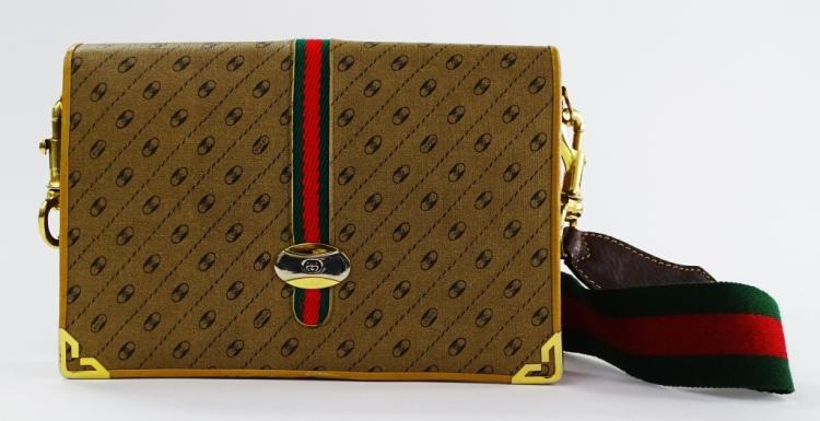 VINTAGE GUCCI WOMANS MONOGRAM BAG