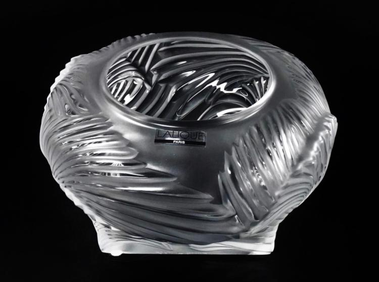 20TH CEN LALIQUE FROSTED CRYSTAL BOWL
