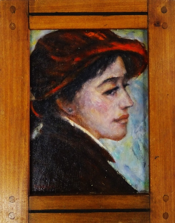 CHARLES HOPKINSON ORIGINAL PORTRAIT OIL/BOARD