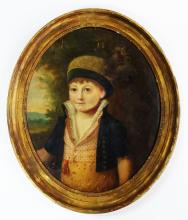 19TH C. CONTINENTAL OIL/CANVAS PORTRAIT PAINTING