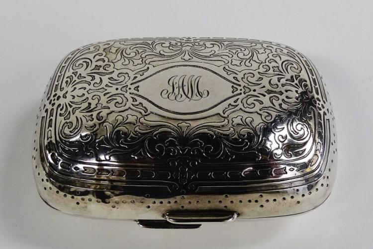 TIFFANY & CO. STERLING SILVER SOAP DISH CA 1900'S