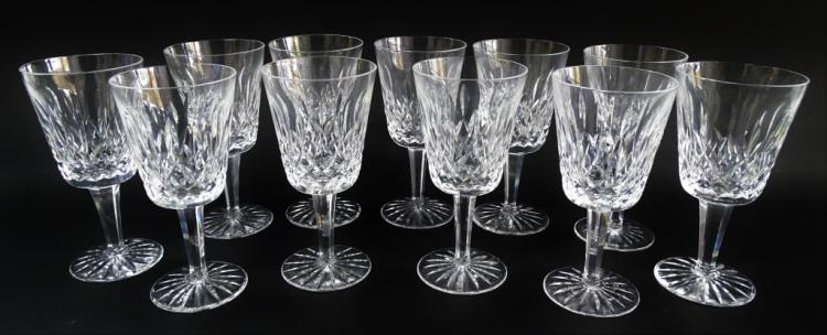 11 WATERFORD LISMORE PATTERN WATER GOBLETS