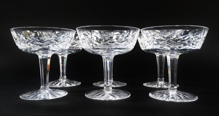 6 WATERFORD SHERBET GOBLETS LISMORE PATTERN