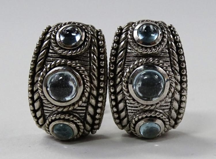 PAIR OF VINTAGE JUDITH RIPKA 925 STERLING EARRINGS