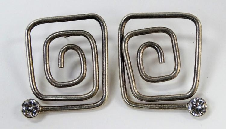 PR ALICIA DE TAXCO MEXICO STERLING SILVER EARRINGS