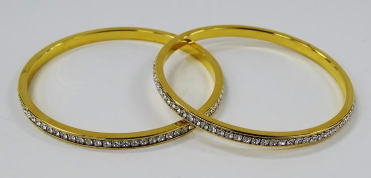 PR LADIES' SWAROVSKI JEWELED BANGLE BRACELETS