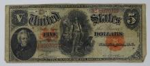 1907 SERIES RED SEAL WOODCHOPPER FIVE DOLLAR BILL