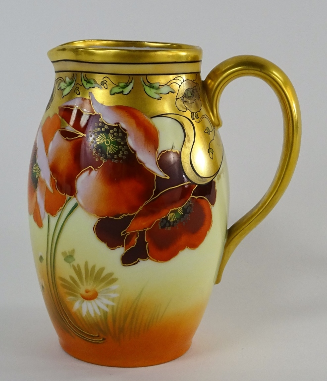 HANDPAINTED PICKARD ART NOUVEAU PORCELAIN PITCHER