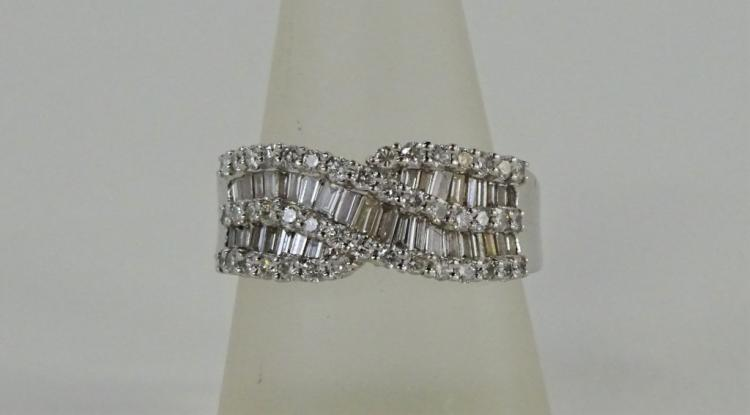 LADIES FANCY 18KT WHITE GOLD 2.30CT DIAMOND RING