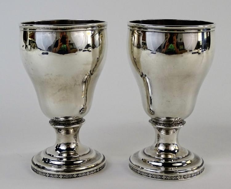 PR CONTINENTAL STERLING SILVER WINE GOBLETS