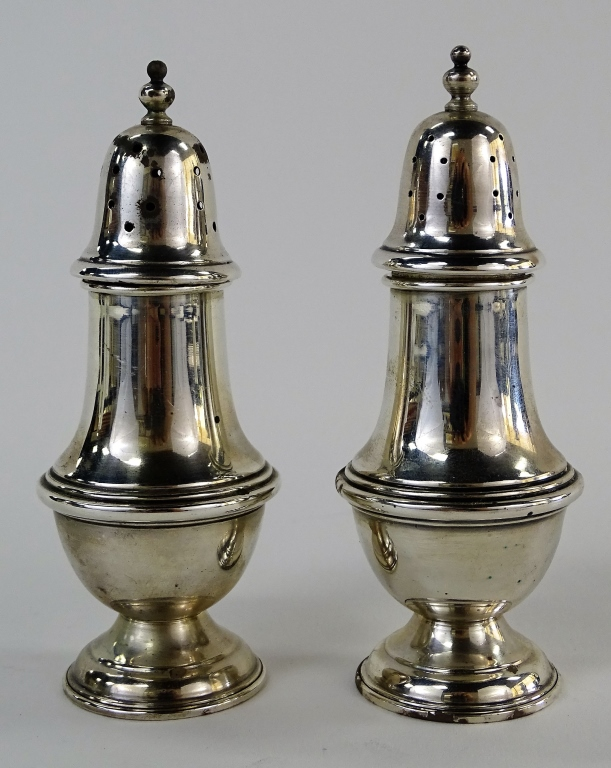 NATIONAL SILVER CO. STERLING SALT & PEPPER SHAKERS