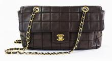 CHANEL EAST WEST CHOCOLATE BAR SHOULDER BAG