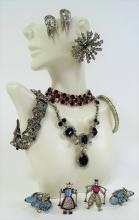 STUNNING LOT OF VINTAGE COSTUME JEWELRY INC KRAMER