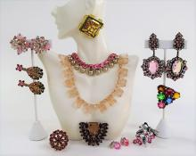 SUPERB LOT OF VINTAGE COSTUME JEWELRY INC VENDOME