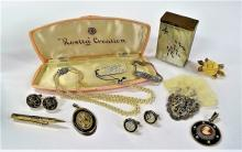SUPERB LOT OF VINTAGE VICTORIAN COSTUME JEWELRY