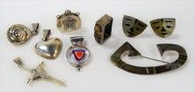 VINTAGE LOT OF COSTUME JEWELRY INC STERLING