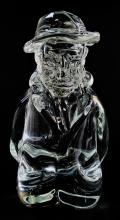 DINO ROSIN LARGE GLASS SCULPTURE OF MAN WITH BEARD