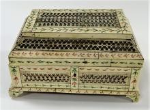 19TH C. RUSSIAN KHOLMOGORY ARCHANGELSK BONE CASKET