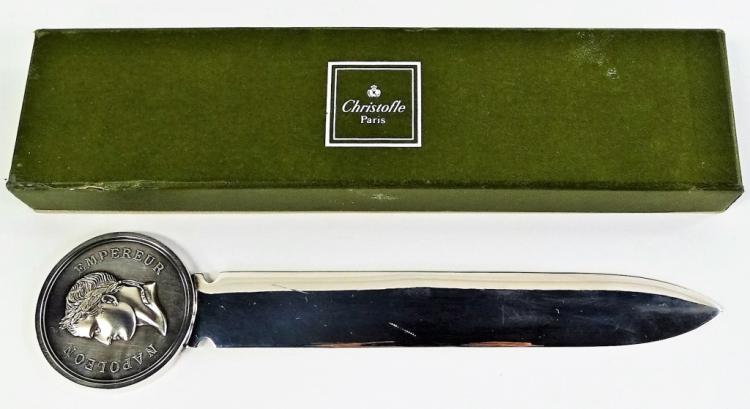 Christofle large napoleon letter opener for Christofle letter opener