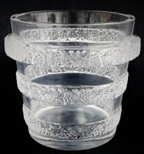 Lot 61: LALIQUE FRANCE RIQUEWIHR CRYSTAL WATER BUCKET
