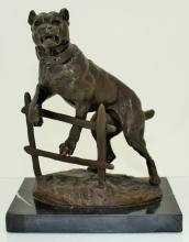 C. VALTON FRENCH BRONZE MASTIFF GUARD DOG