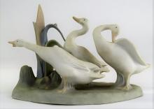 LLADRO PORCELAIN 'GEESE GROUP' #4549
