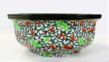 ANTIQUE ROYAL DOULTON FLORAL PORCELAIN BOWL