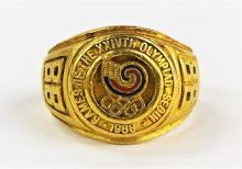 24KT YELLOW GOLD 1988 SEOUL SUMMER OLYMPICS RING