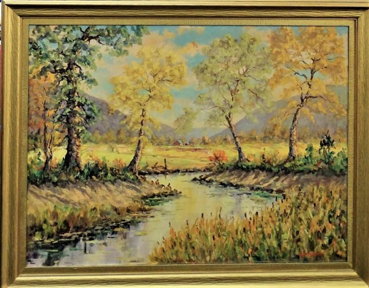 HELIO WERNEGREEN ORIGINAL LANDSCAPE OIL ON CANVAS