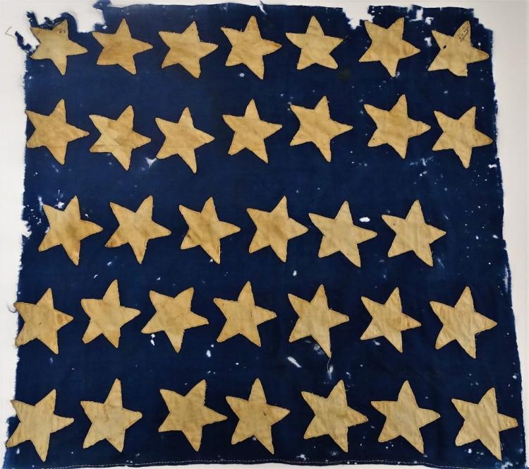 35 U.S. STAR FLAG (CANTON) 1863-1865