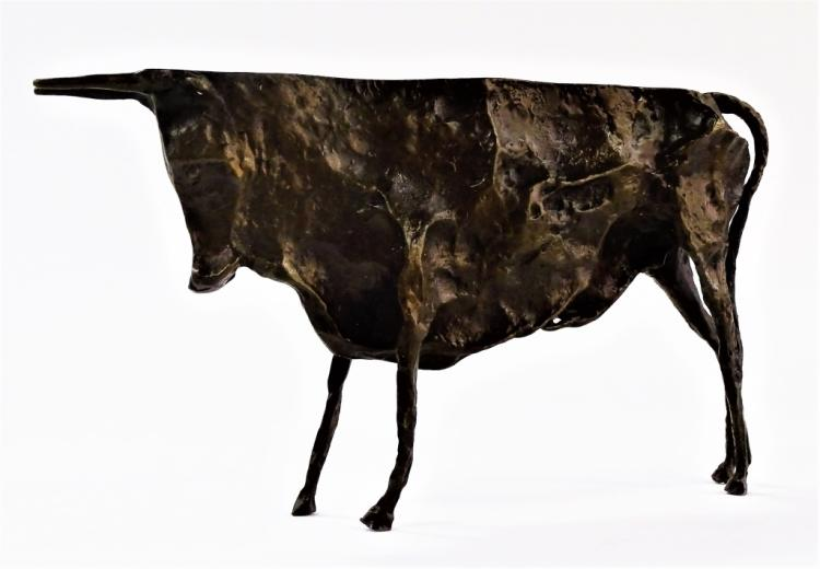 BRONZE BULL SCULPTURE AFTER PABLO PICASSO
